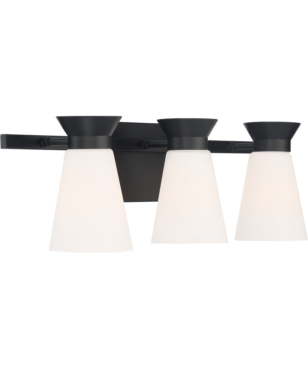 Caleta 3-Light Vanity & Wall Black
