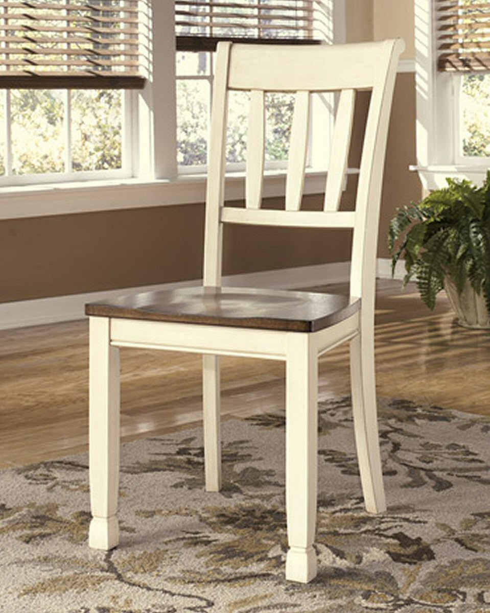 "38""H Whitesburg Dining Room Side Chair (Set of 2) Brown/Cottage White"