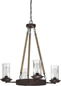 0-007000>Thornton 4-Light Up/Down Chandelier Aged Bronze