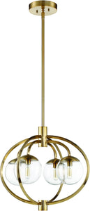 0-002885>Piltz 4-Light Chandelier Satin Brass