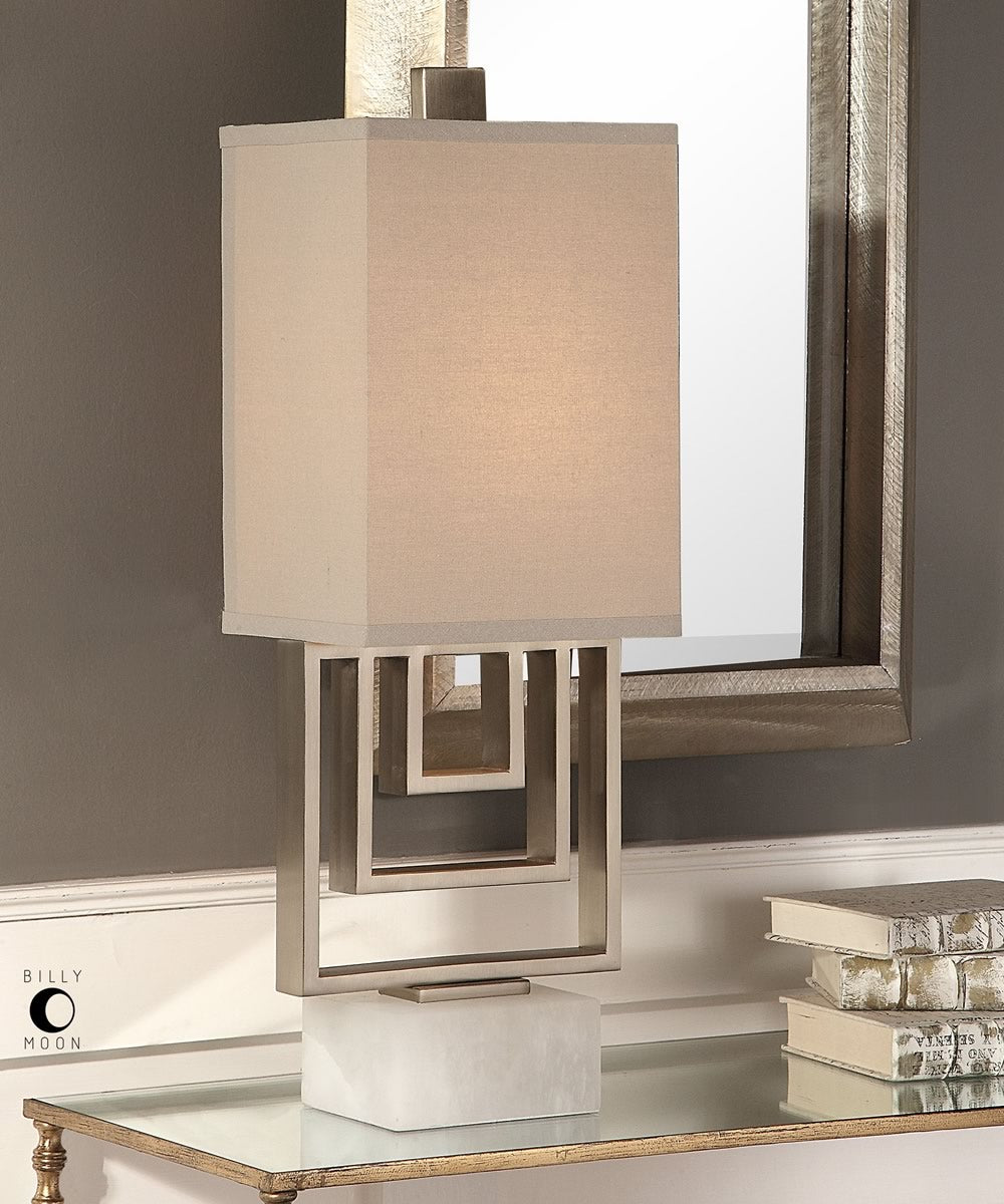 "28""H Medora Brushed Nickel Lamp"