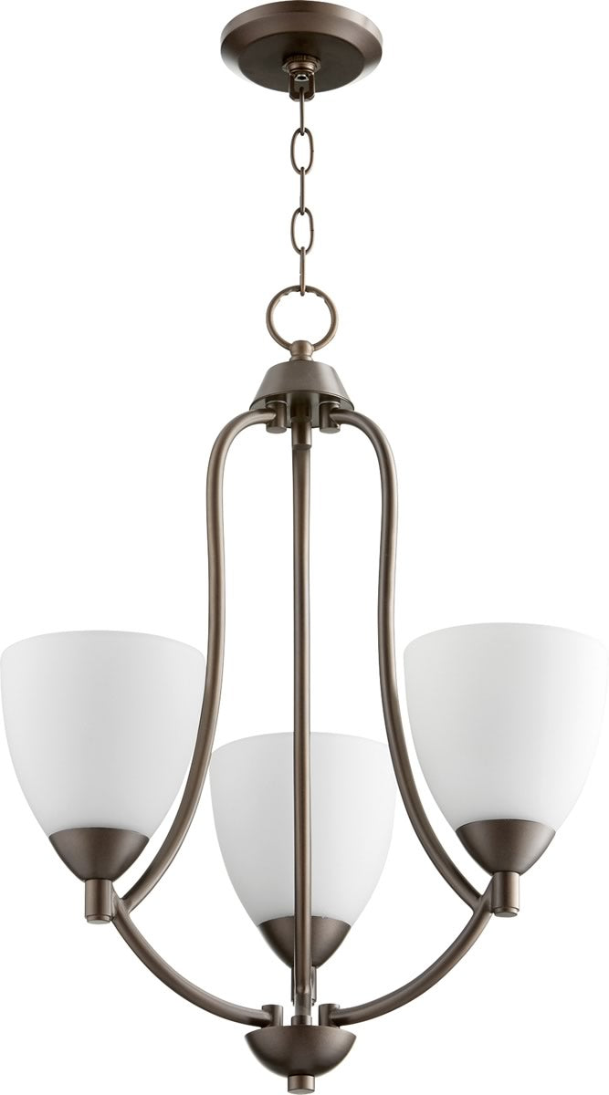 "18""W Barkley 3-light Chandelier Oiled Bronze"