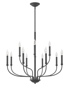 Alister 12-Light Two Tier in Buckeye Bronze