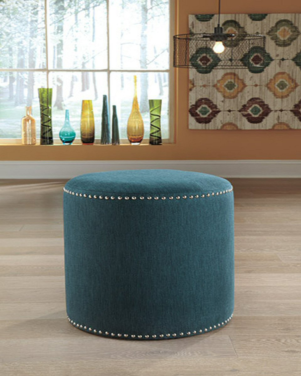 "19""H Revel Accent Ottoman Teal"