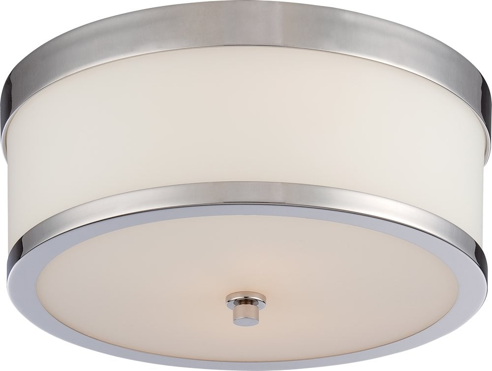 "14""W Celine 2-Light Close-to-Ceiling Polished Nickel"
