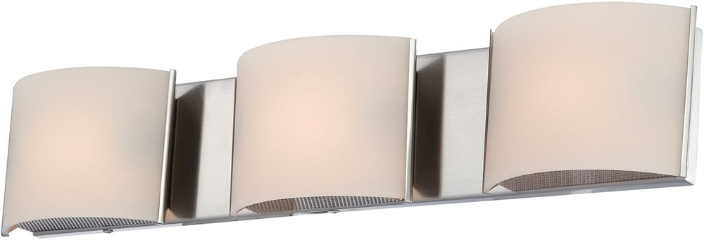 "25""W Pandora 3-Light Vanity Satin Nickel/White Opal Glass"
