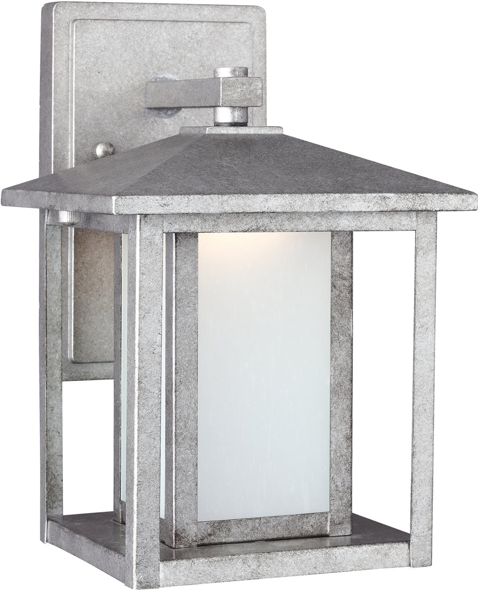 Hunnington 1-Light LED Outdoor Wall Lantern Weathered Pewter
