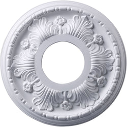 Acanthus 11-Inch Medallion White Finish