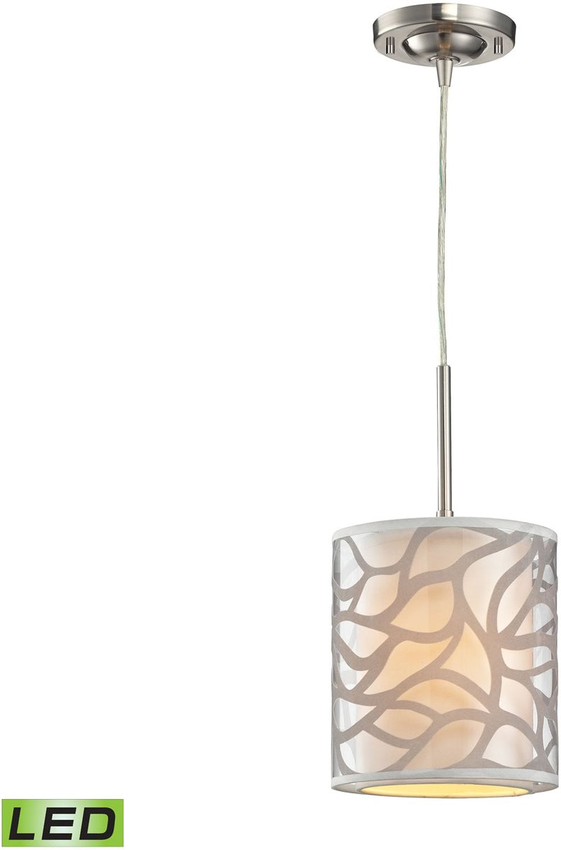 "7""W Autumn Breeze 1-Light LED Pendant Brushed Nickel"