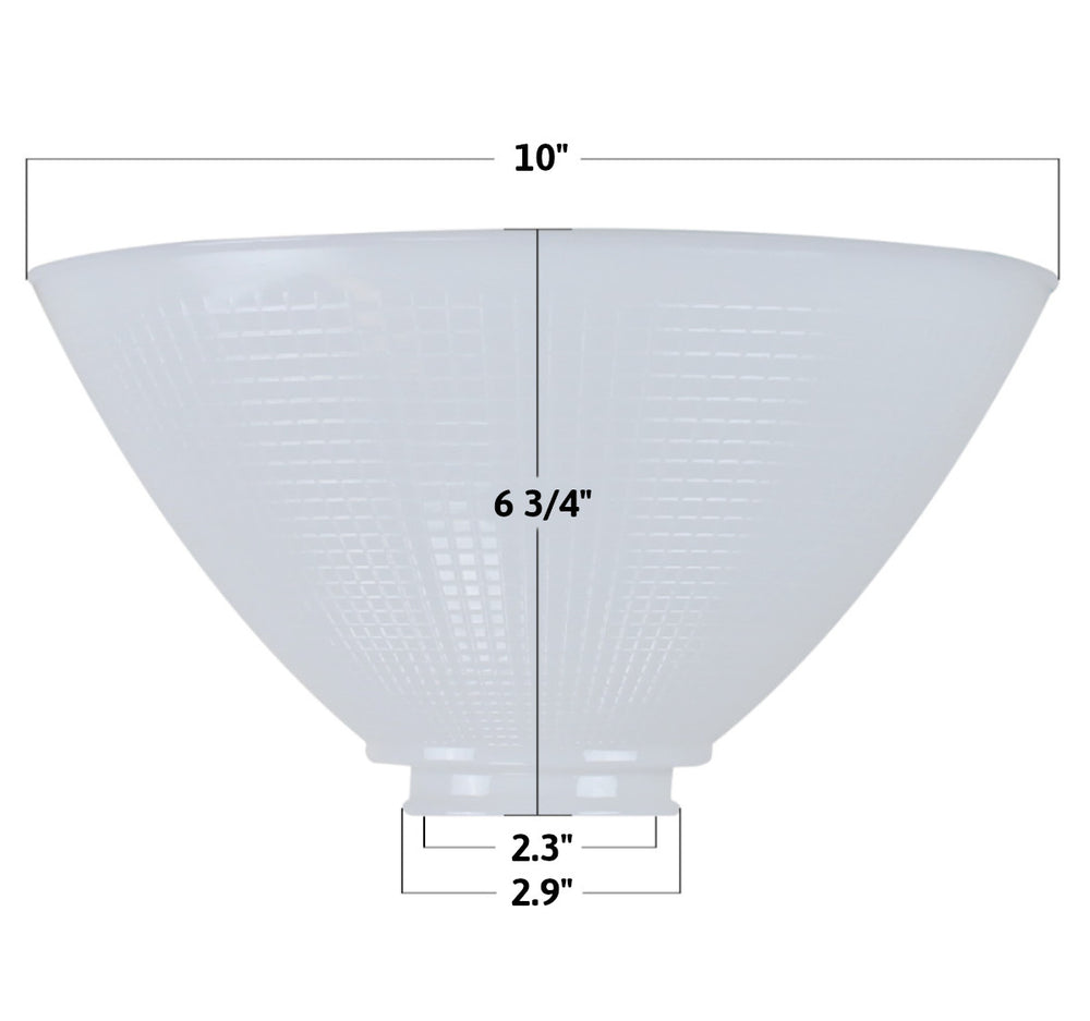 "3""W x 5""H Reflector-Type Replacement Shade"