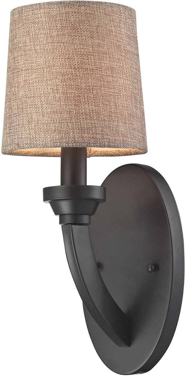 Morrison 1 light wall sconce oil rubbed bronze