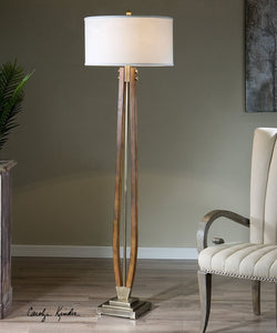 "67""H Boydton Burnished Wood Floor Lamp"