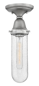 Academy 1-Light Flush Mount in English Nickel
