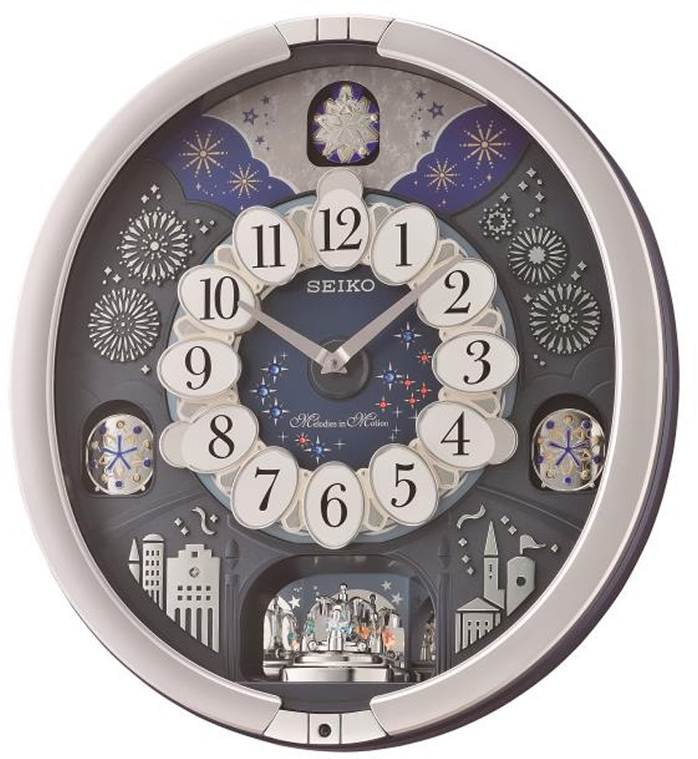 "18""H Melodies in Motion Clock  with 18 Hi-Fi Melodies"