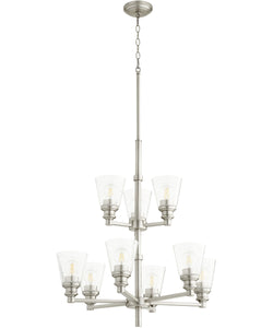 Dunbar 9-light Chandelier Satin Nickel