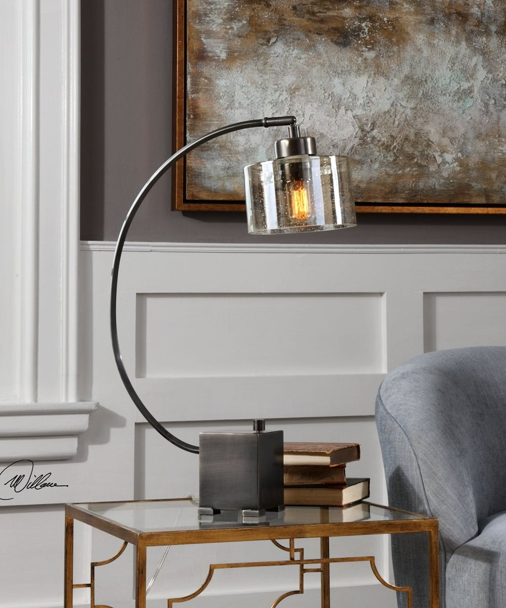 "30""H Cervino Arched Iron Lamp"