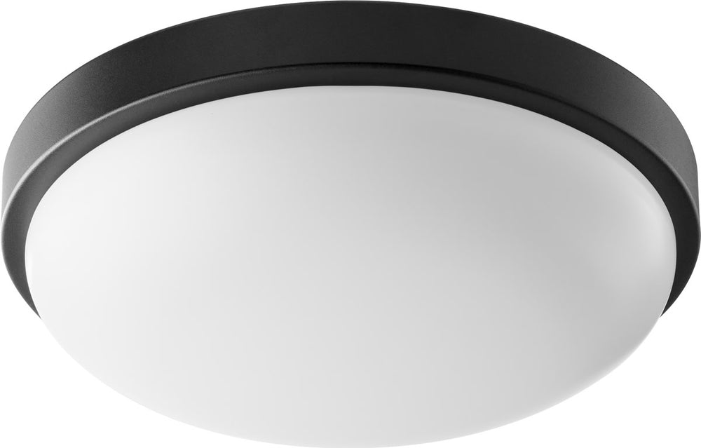 "12""W 1-light LED Ceiling Flush Mount Noir"