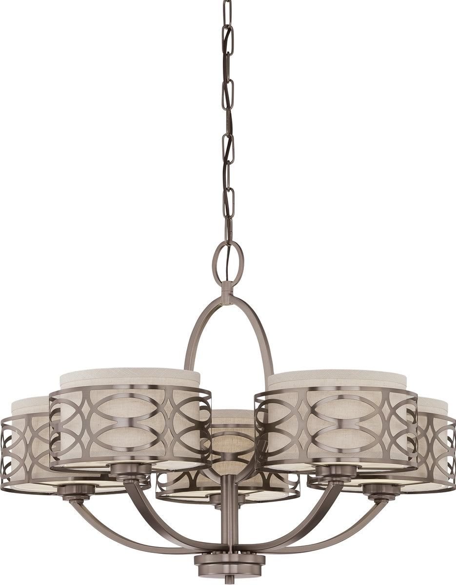 "28""W Harlow 5-Light Chandelier Hazel Bronze"