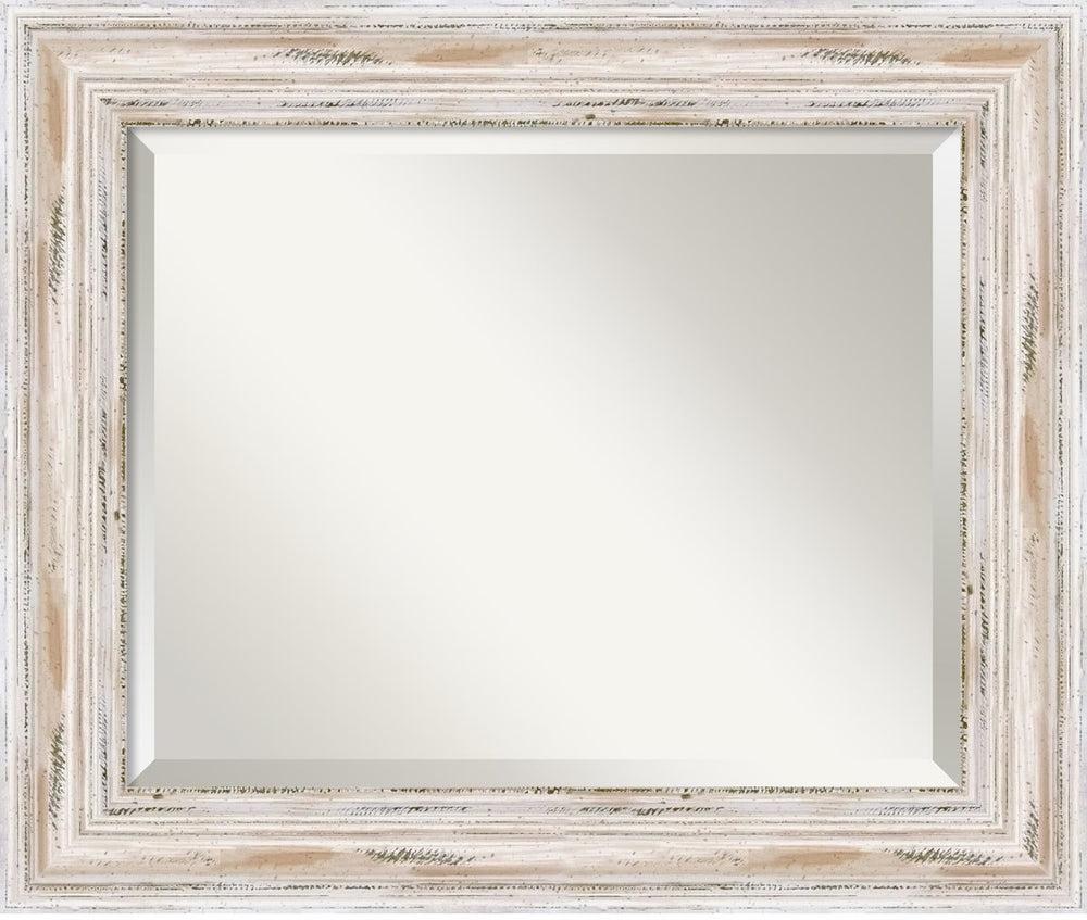 "25x21"" Alexandria Mirror Whitewash"