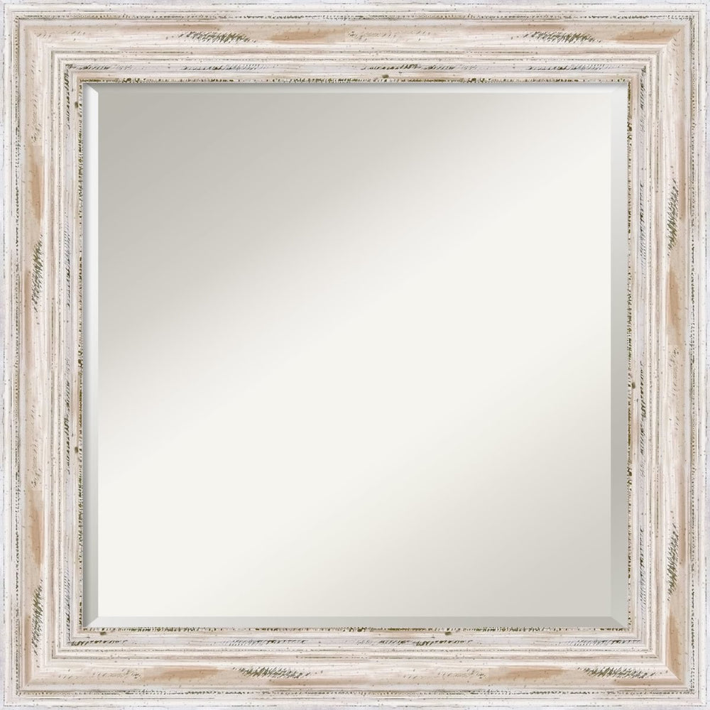 "25x25"" Alexandria Mirror Whitewash"