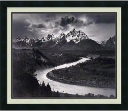 "26x22"" Ansel Adams The Tetons and the Snake River Grand Teton National Park Wyoming 1942 Framed Print"