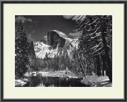 Amanti Art Ansel Adams Half Dome Winter Yosemite National Park 1938 Framed Print AA01113
