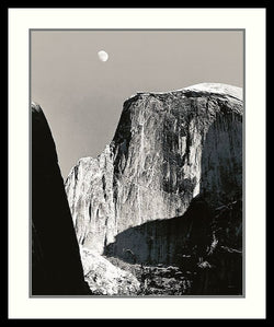 Amanti Art Ansel Adams Moon Over Half Dome Framed Print AA01152
