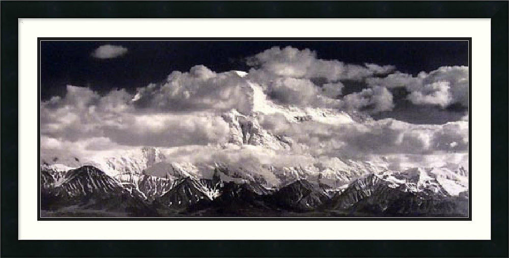 "39x20"" Ansel Adams Mount McKinley Range Clouds Denali National Park Alaska 1948 Framed Print"