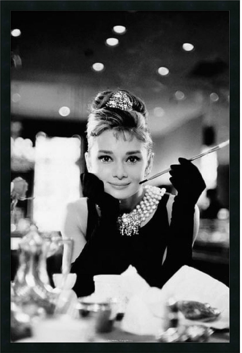 "25x37"" Audrey Hepburn-Breakfast at Tiffanys Framed Print"