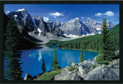"25x37"" Moraine Lake Banff Framed Art Gel Coated"