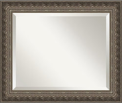 Amanti Art Barcelona Pewter Mirror Medium Framed Mirror AA01015