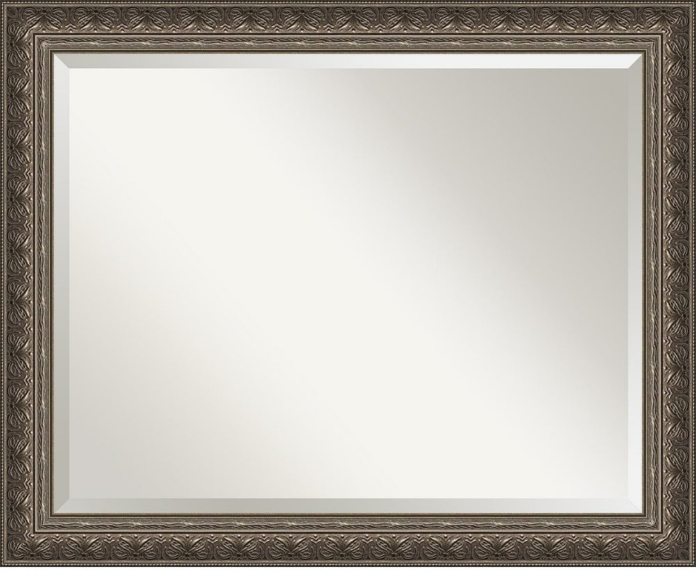 "26""H x 32""W Barcelona Pewter Mirror Large Framed Mirror"