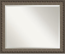 "26x32"" Barcelona Pewter Mirror Large Framed Mirror"