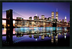 Amanti Art Brookln Bridge Framed Art Gel Coated AA177262