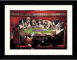 "27x21"" C. M. Coolidge Poker Sympathy Framed Print"