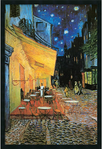 Amanti Art Caf Terrace at Night Framed Art Gel Coated AA169869