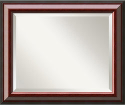 Amanti Art Cambridge Mahogany Mirror Medium Framed Mirror AA01014