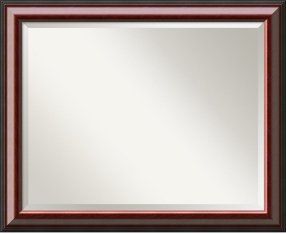 "26""H x 32""W Cambridge Mahogany Mirror Large Framed Mirror"