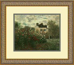 Amanti Art Claude Monet The Artists Garden at Argenteuil 1873 Framed Print AA01084