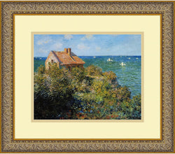 "16x14"" Claude Monet Fishermans Cottage on the Cliffs at Varengeville 1882 Framed Print"