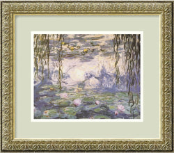Amanti Art Claude Monet Water Lilies and Willow Branches Framed Print AA01105