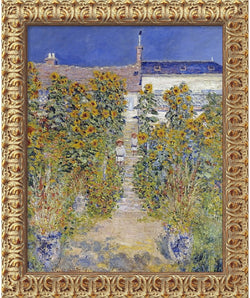 Amanti Art Claude Monet The Artists Garden at Vetheuil 1880 Framed Art Canvas Canvas AA01540