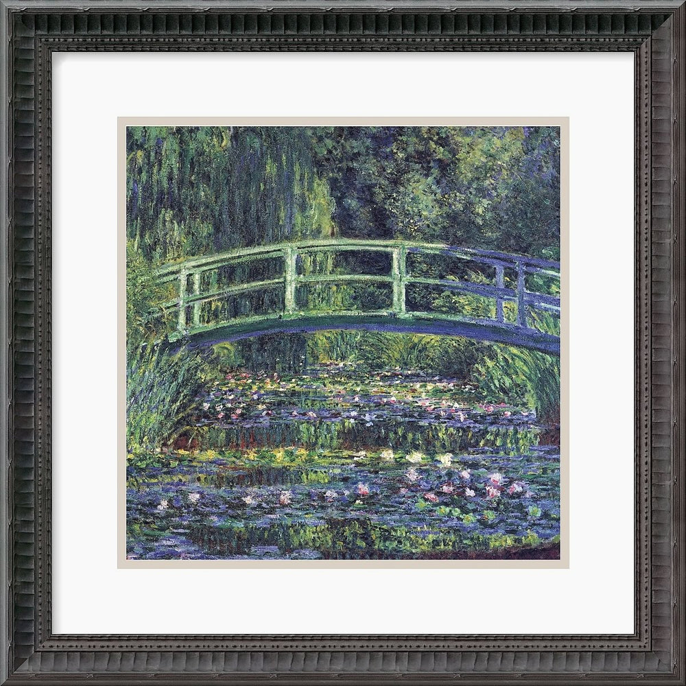 "19""H x 19""W Claude Monet Water Lily Pond 1899 blue Framed Print"