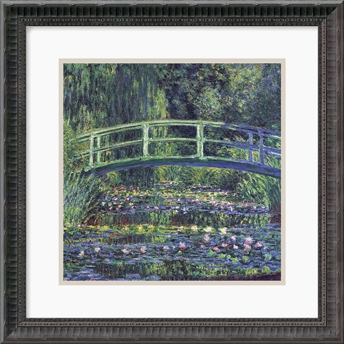 Amanti Art Claude Monet Water Lily Pond 1899 blue Framed Print AA113978