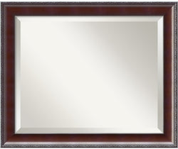 Amanti Art Country Walnut Mirror Medium Framed Mirror AA01018