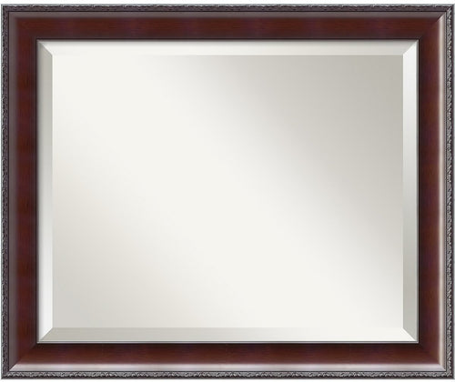 "19x23"" Country Walnut Medium Framed Mirror"