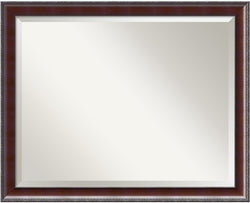"25x31"" Country Walnut Large Framed Mirror"
