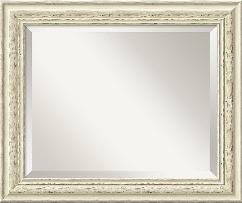 "20x24"" Country Whitewash Mirror Medium Framed Mirror"