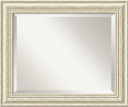 Amanti Art Country Whitewash Mirror Medium Framed Mirror AA01021