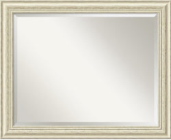 "26x32"" Country Whitewash Mirror Large Framed Mirror"